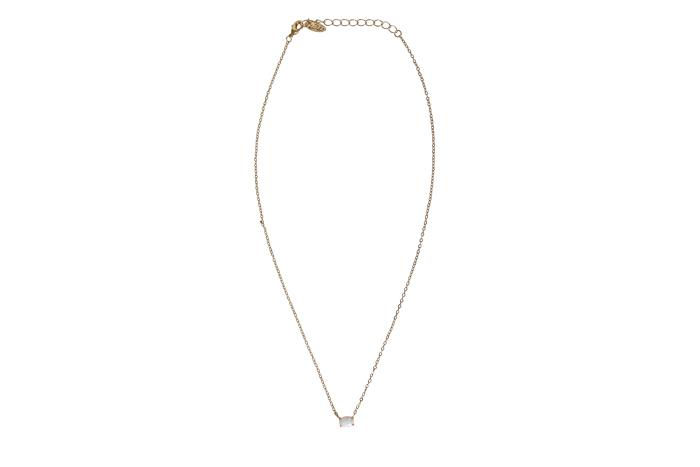 Ettika Opal Rose Necklace Fabfitfun