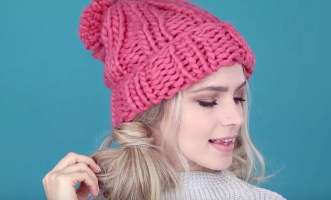 86cd2b348c5 Cute (and Easy) Hairstyles to Wear With a Beanie - FabFitFun