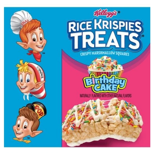 Rice Krispies Marshmallow Birthday Cake Snack Bars 389