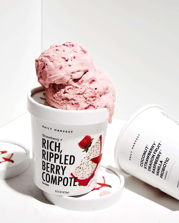 Strawberry + Berry Compote ice cream