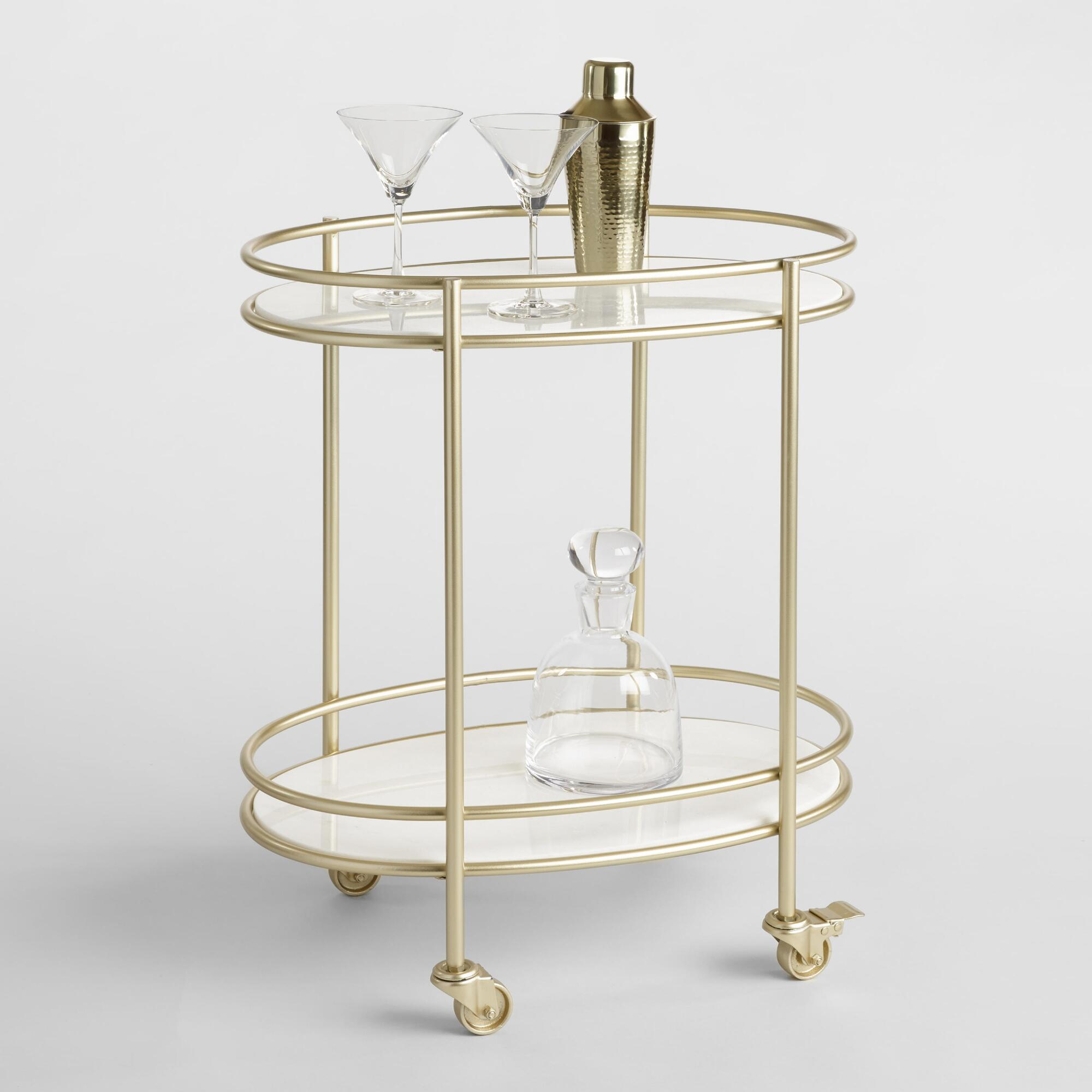 Champagne and Gold Bar Cart