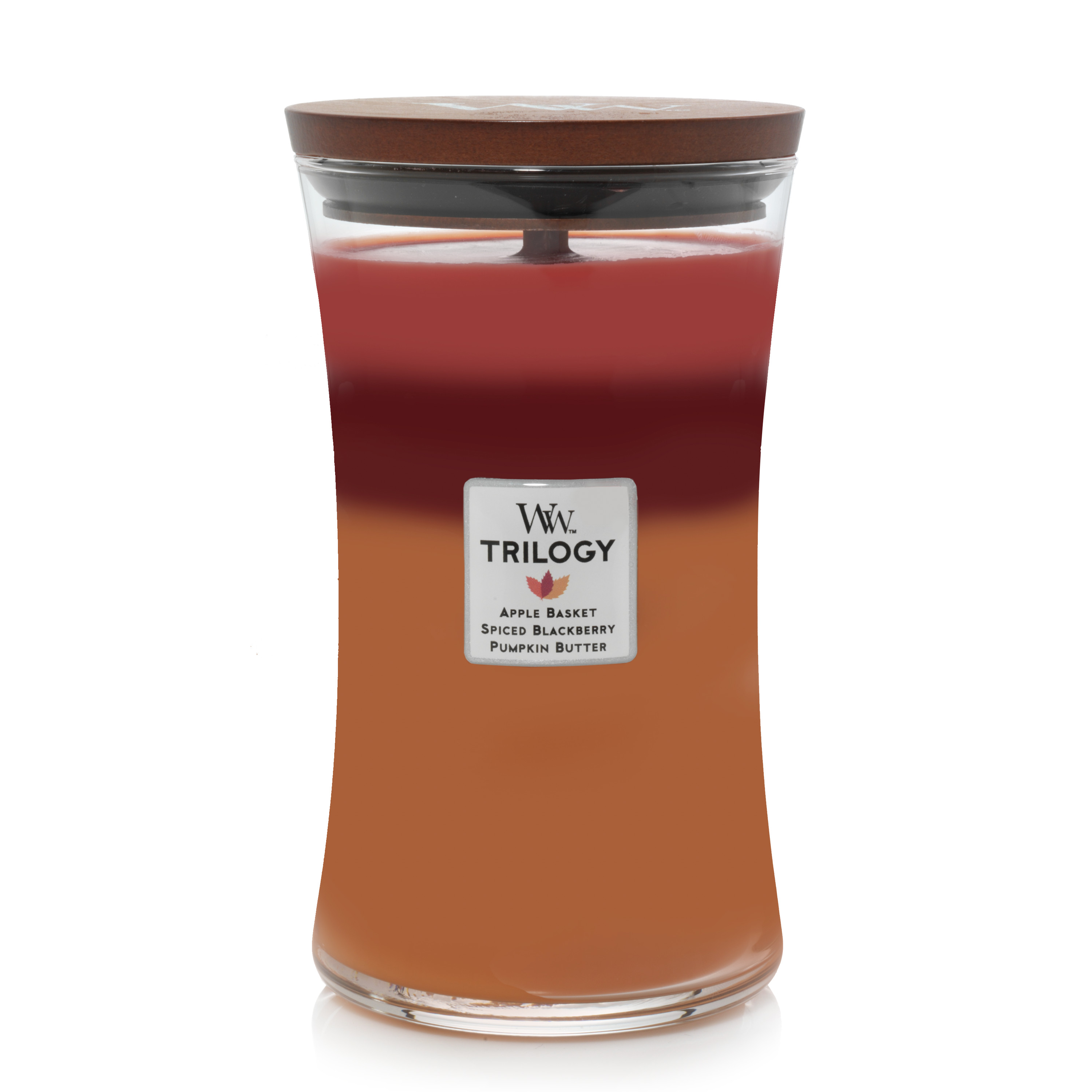 WoodWick Trilogy Autumn Harvest - Large Hourglass Candle