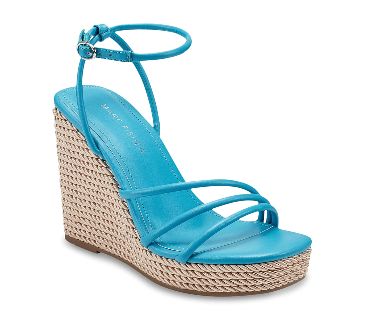 Blue Marc Fisher Wedge Sandals