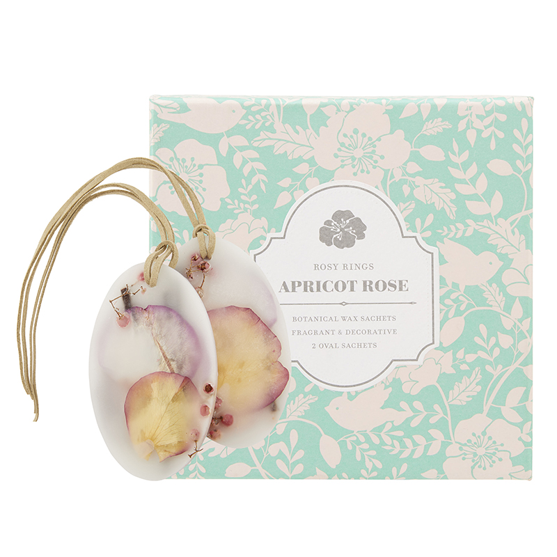 Apricot Rose Rosy Rings Oval Botanical Wax Sachets