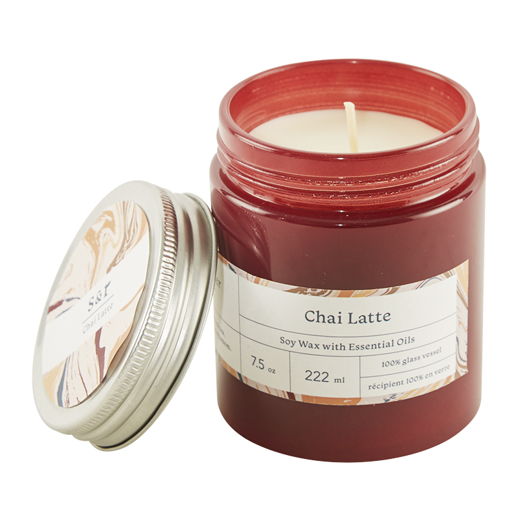 Summer & Rose Chai Latte Soy Wax Candle - FabFitFun